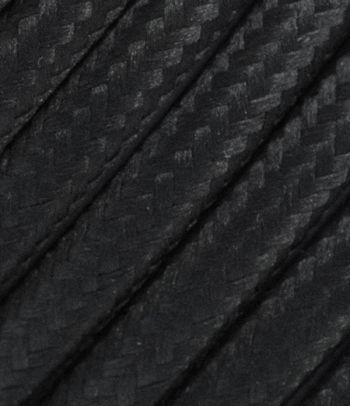 Juodas tekstilinis kabelis 2x1,5 mm²