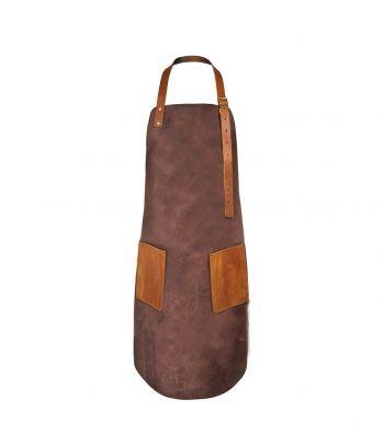 Natūrali odinė BBQ prijuostė su kišenėmis