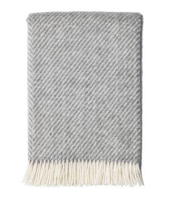 Vilnonis pilkas pledas juostelėmis Scandimama '69