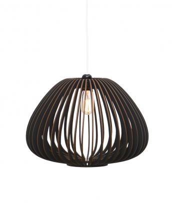 Juodas pakabinamas medinis šviestuvas virtuvei 'Tokyo S'