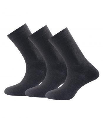 Juodos merino vilnos kojinės Devold Medium Black (3 poros)