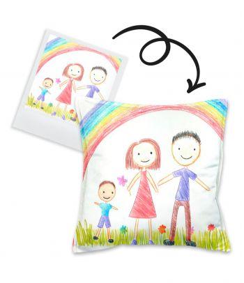Personalizuota pagalvė su Jūsų vaiko piešiniu