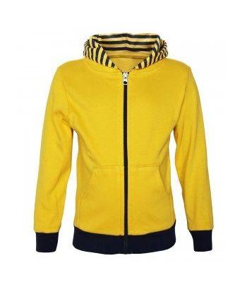 Vaikiškas geltonas džemperis su kapišonu