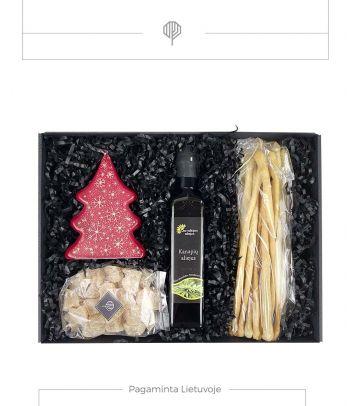 Kalėdinis dovanų rinkinys su kanapių aliejumi