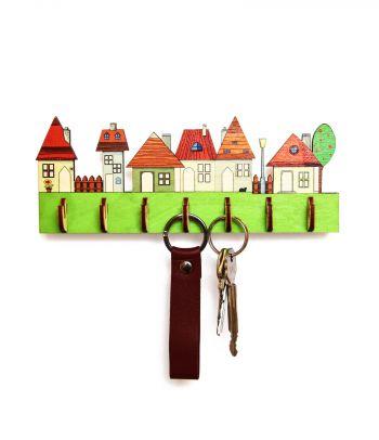 Stilinga medinė raktinė 'Urban' su dovanų dėžute R4