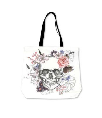 Stilingas krepšys 'Gėlėta kaukolė'