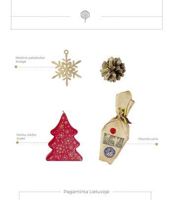 Kalėdinis rinkinys Red & Gold