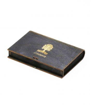 Juoda medinė dovanų dėžutė D4