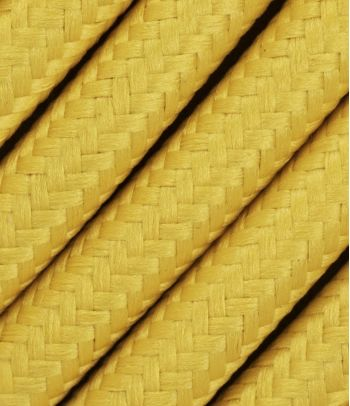 Tekstilinis kabelis 2x0,75 mm², geltonas
