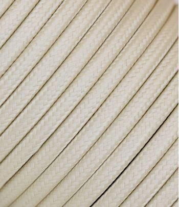 Tekstilinis kabelis 2x0,75 mm², smėlio spalvos