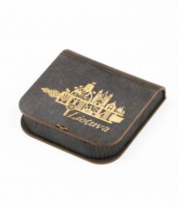 Medinė dovanų dėžutė juoda D5