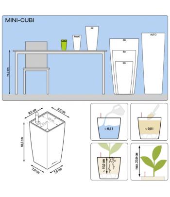 Plastikinis vazonas Mini Cubi
