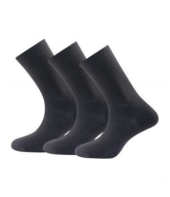 Juodos Merino vilnos kojinės Devold Light Black (3 poros)
