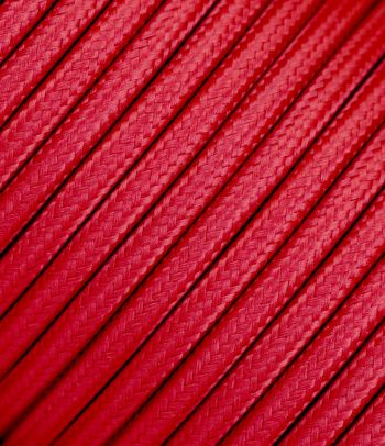 Trigyslis raudonas tekstilinis kabelis 3x2,5 mm²