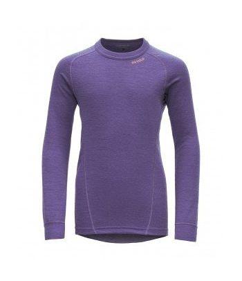 Merino vilnos palaidinė ilgos rankovės Devold Purple