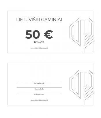 Dovanų kuponas 50 EUR vertės