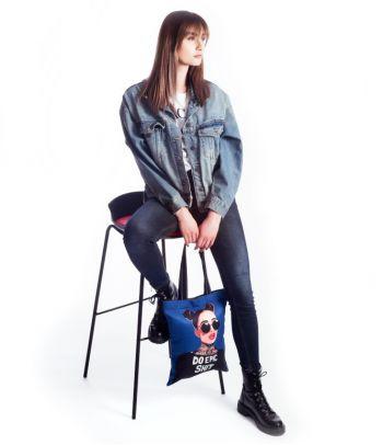 Tekstilinis pirkinių krepšys 'Do epic shit'