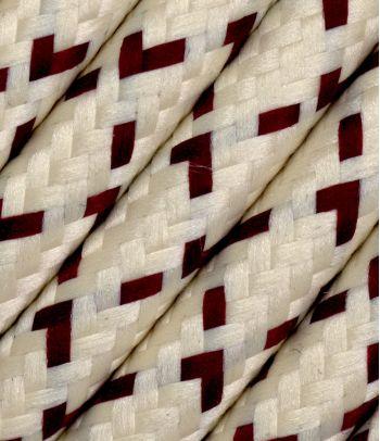 Tekstilinis kabelis 2x0,75 mm², spalvotas