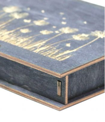 Dovanų dėžutė medinė juoda D3