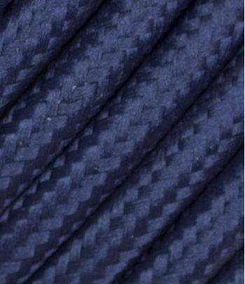 Tekstilinis kabelis 2x0,75 mm², mėlynas