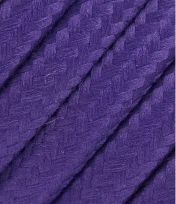 Tekstilinis kabelis 2x0,75 mm², violetinės spalvos