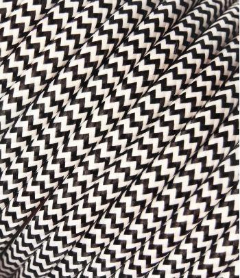 Tekstilinis kabelis 2x0,75 mm², juoda/balta