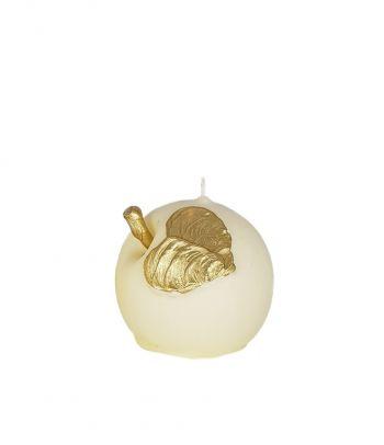 Apvali rankų darbo žvakė Šampaninis obuolys