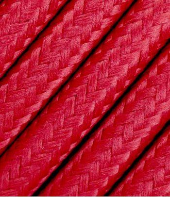 Raudonas tekstilinis kabelis 2x1,5 mm²