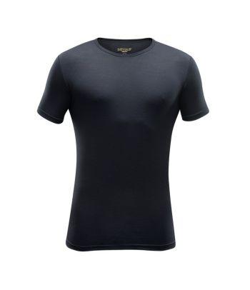 Juodi termo marškinėliai trumpomis rankovėmis Devold
