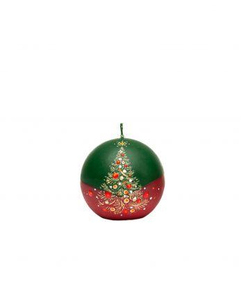 Kalėdinė rankų darbo žvakė