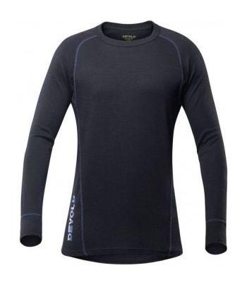 Juodi dvisluoksniai termo marškinėliai vyrams Devold