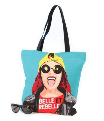 Stilingas tekstilinis krepšys pirkiniams 'Belle et Rebelle'