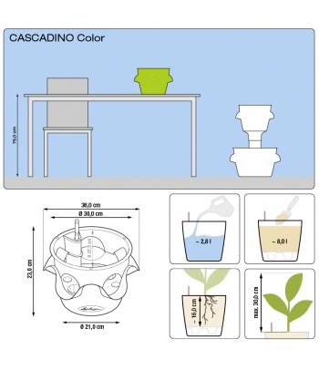 Stilingas augalų vazonas Cascadino Color