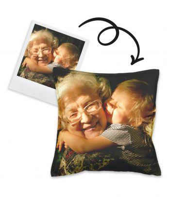 Personalizuota pagalvė su šeimos nuotrauka