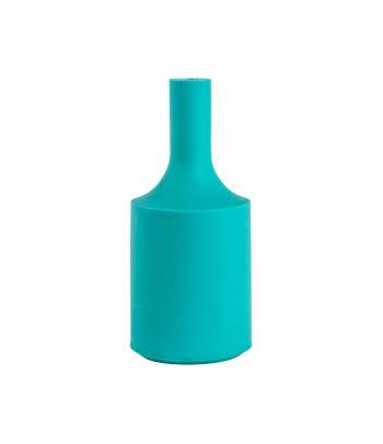 Silikoninis lemputės lizdo cokolio gaubtas turquoise
