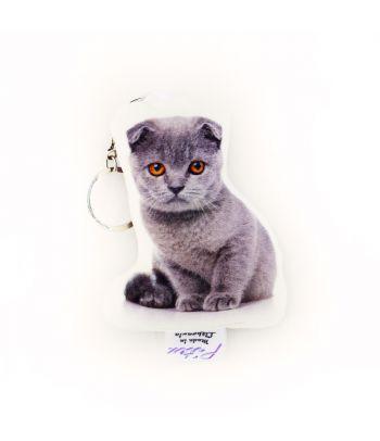Personalizuotas raktų pakabukas su katino nuotrauka