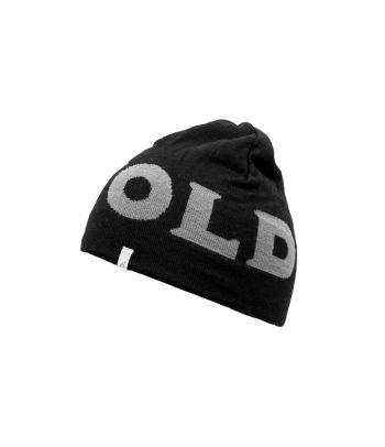 Juoda vilnonė kepurė su logo Devold