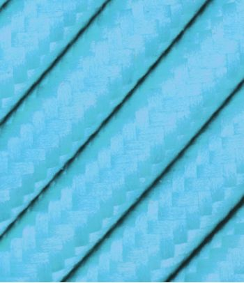 Turkio spalvos tekstilinis kabelis 2x0,75 mm²