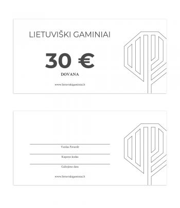 Dovanų kuponas 30 EUR vertės