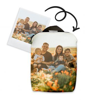 Kuprinė su šeimos nuotrauka