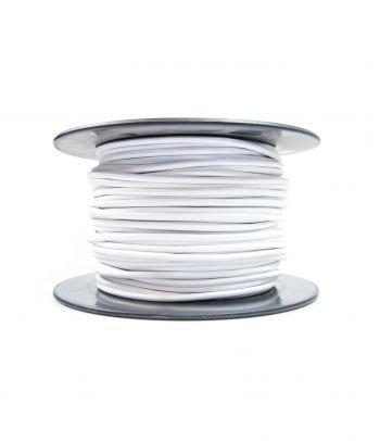 Didmeninė kaina 2x0,75 mm² kabelis baltas 100 m