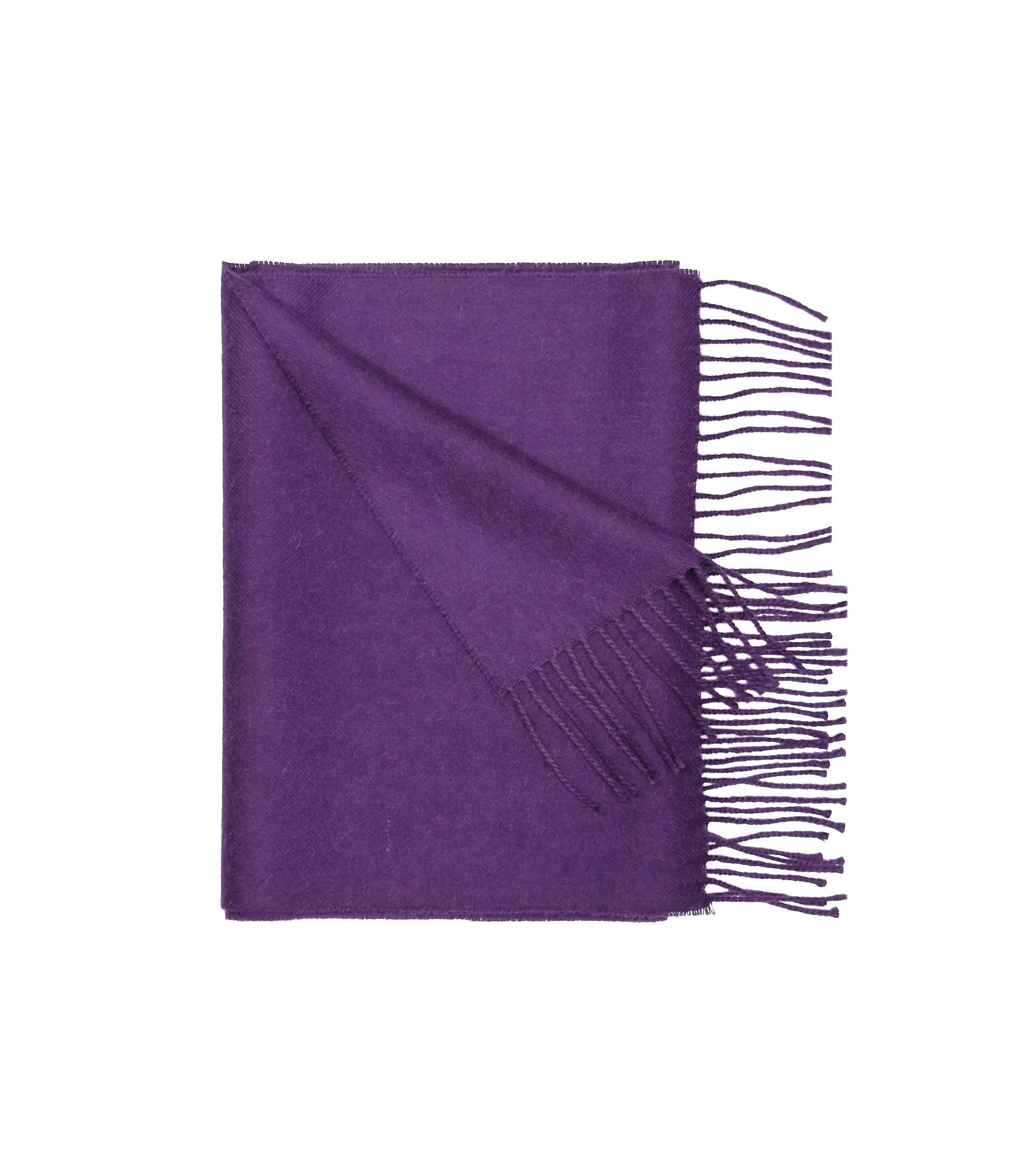 Šiltas violetinis alpakos vilnos šalikas 3