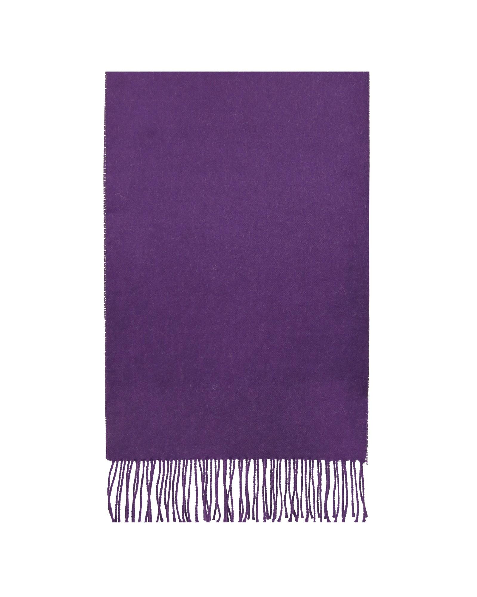 Šiltas violetinis alpakos vilnos šalikas