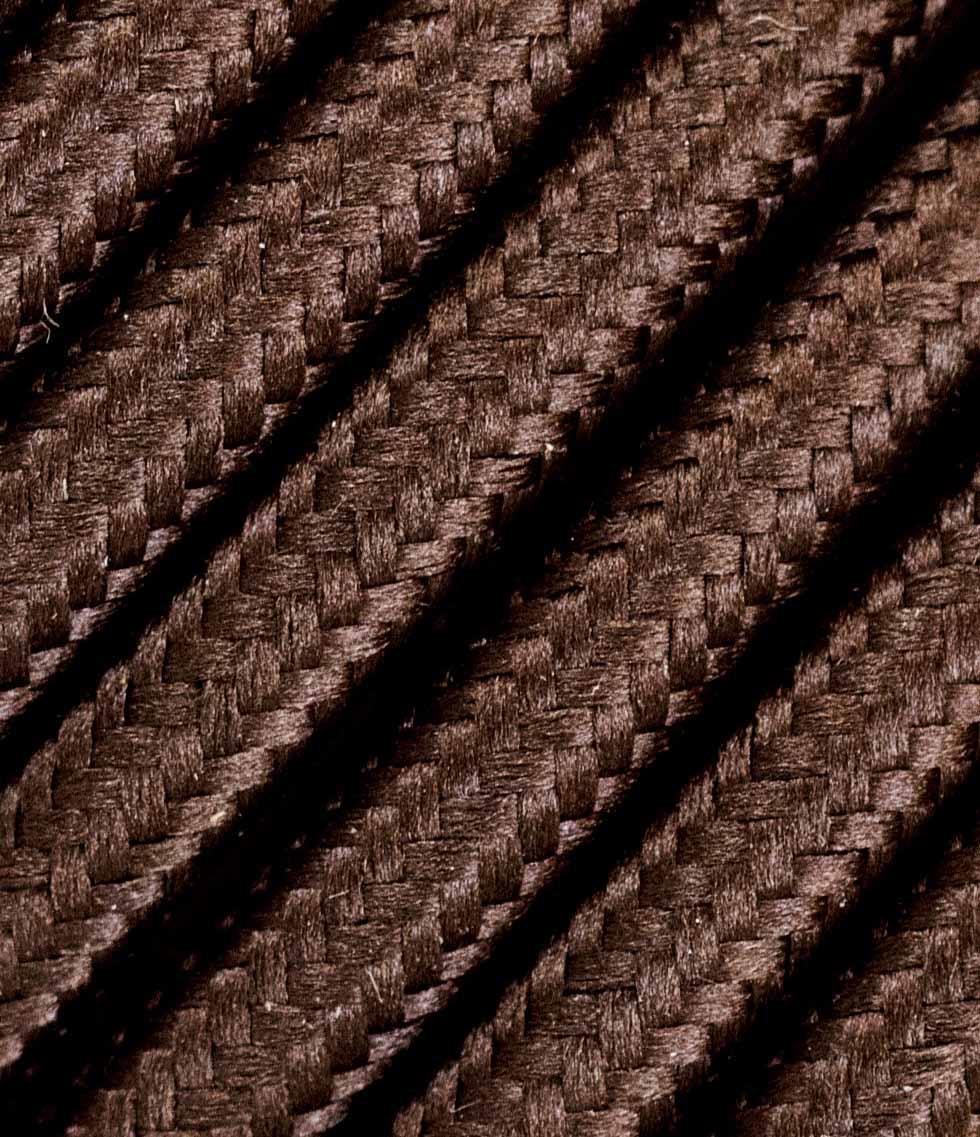 Rudas trigyslis tekstilinis kabelis 3x2,5 mm² 1