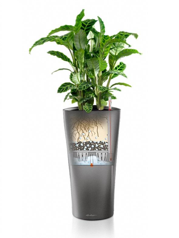 Plastikinis vazonas gėlėms Lechuza Delta 2