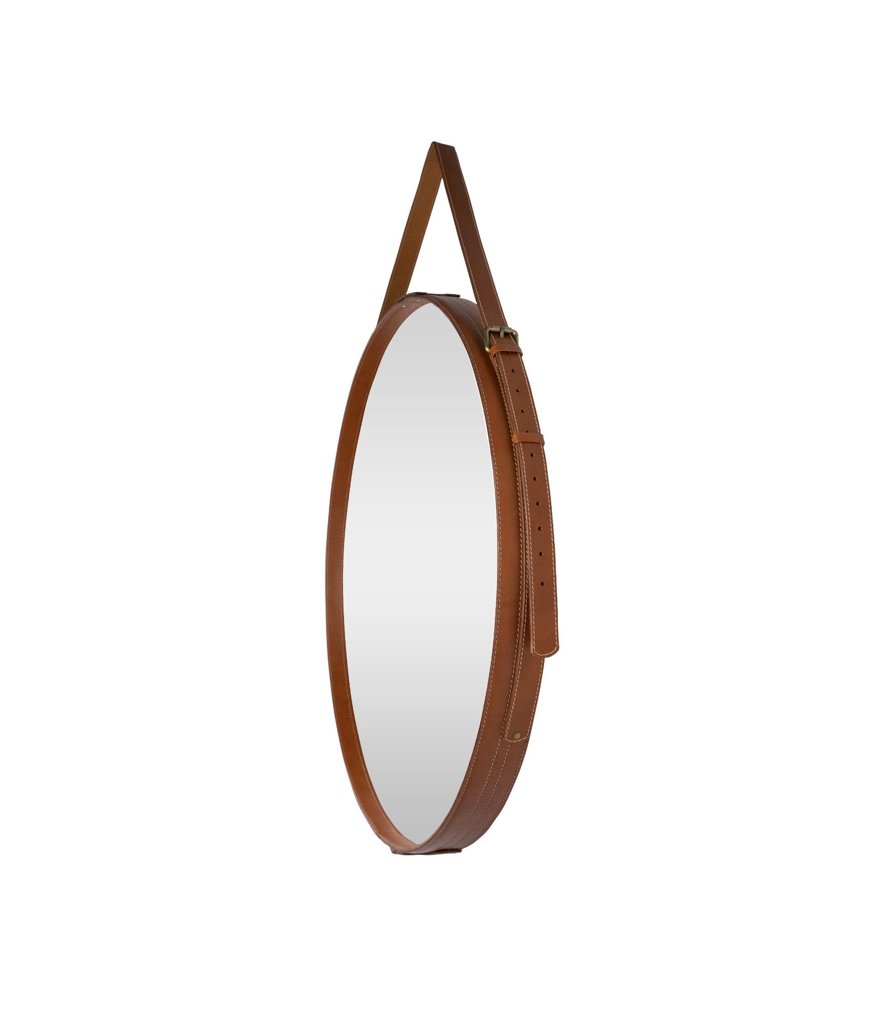 Apvalus veidrodis odiniu rėmu 1